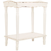 Antique White Wood Tray Table